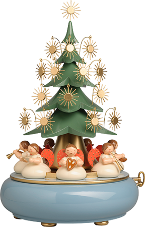 5336/41A, Music Box with Angels sitting under the Tree, with 36-tone Musical Movement