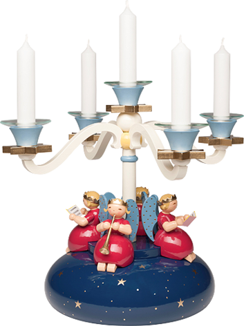 6205/12, Four Arm Candelabra, with 4 Angels
