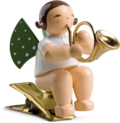 650/90/17, Angel with French Horn, on Clip