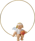 6308/24, Christmas Tree Angel in Ring, with Ball