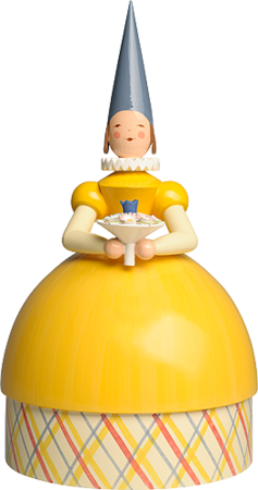 5272/11gelb, Knitting Lady Princess, Yellow Dress