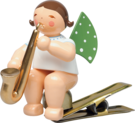 650/90/54, Angel with Saxophone, on Clip