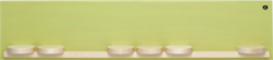 551/k/gruen, Display Shelf with Seven Sliding Disks, Small, Green