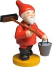 5243/21, Gnome with Broom and Bucket