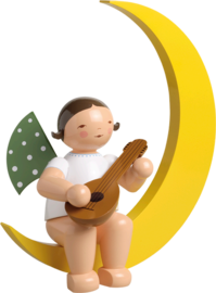 771/4, Angel with Mandolin, in Moon, Large