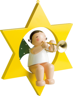 772/36, Angel with Trumpet, in Star, Large