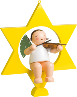 772/2, Angel with Violin, in Star, Large