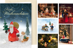 "526/30/1-6, Greeting Cards ""Heavenly Christmas Greetings"", with envelope, 6 cards, 6 designs"