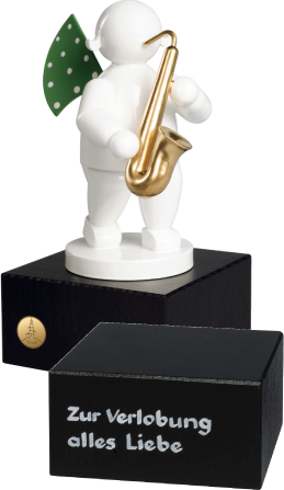 Angel with Saxophone, on Small Pedestal