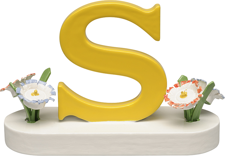 Letter S, with Flowers