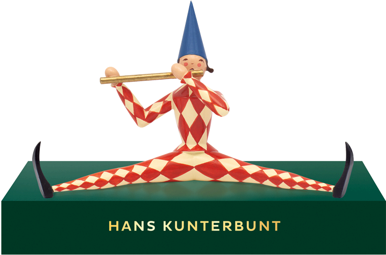 Hans Kunterbunt, Small, with Pedestal