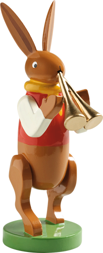 Bunny Musician with Double Flute