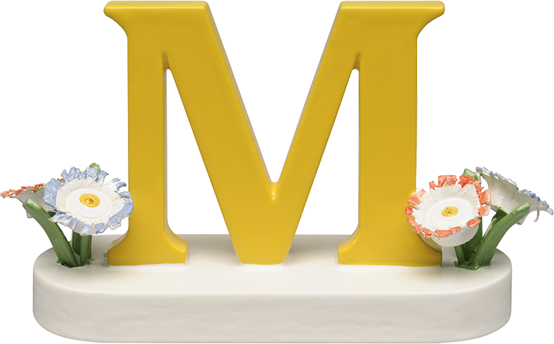 Letter M, with Flowers