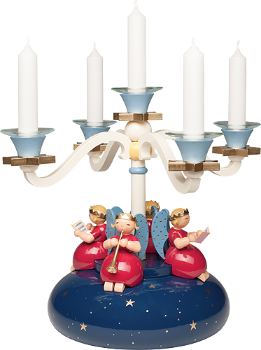 Four Arm Candelabra, with 4 Angels