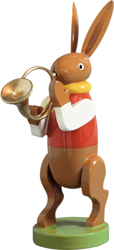 Bunny Musician with French Horn