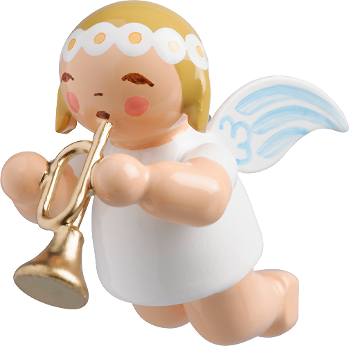 Little Suspended Angel, with Trumpet