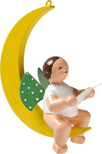 Angel with Sheet of Music, in Moon