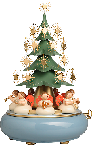 Music Box with Angels sitting under the Tree, with 36-tone Music Works