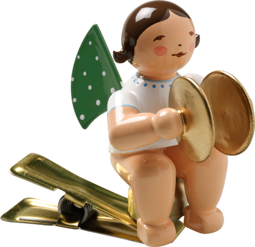 Angel with Cymbals, on Clip
