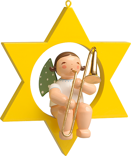 Angel with Trombone, in Star