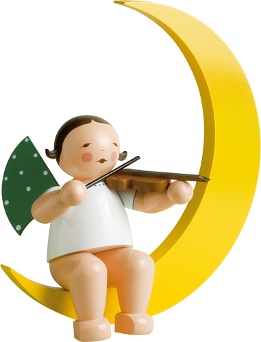 Angel with Violin, in Moon, Large