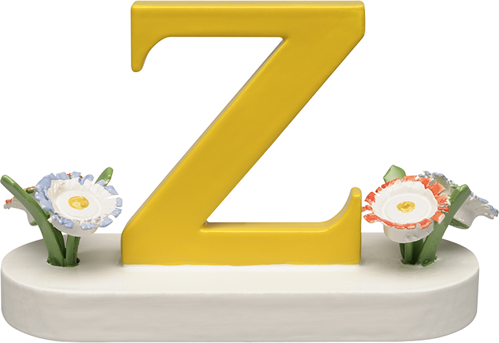 Letter Z, with Flowers