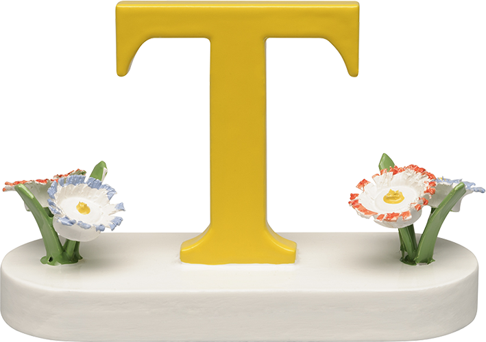 Letter T, with Flowers